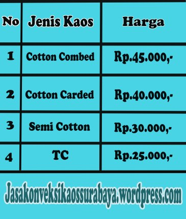 Harga Kaos Polo Promosi di Surabaya